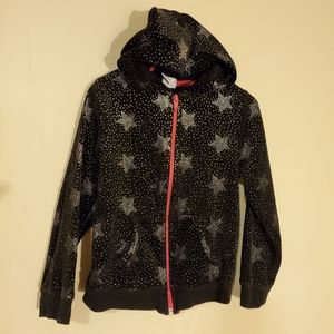 Healthtex black hoodie w/stars Girls size 5t